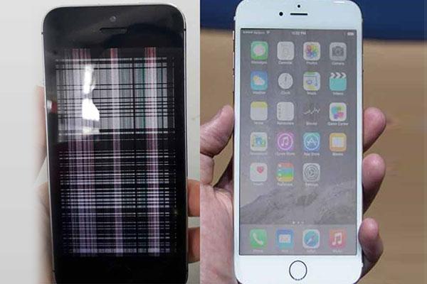 Xử lý khi iphone 6 sọc jmanf hình