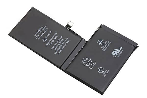 Pin iphone x có dạng chữ L