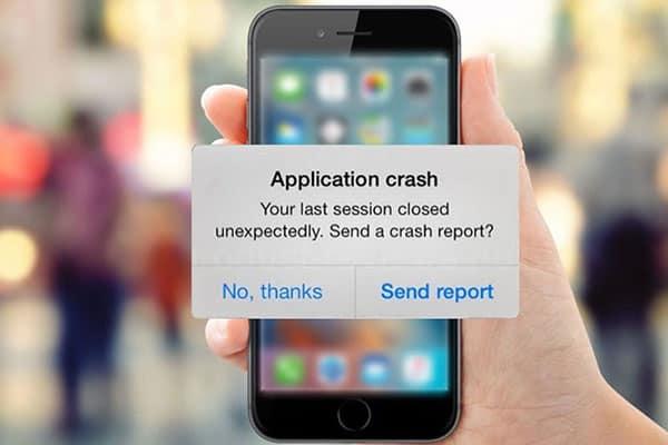 Hiện tượng lỗi iPhone thoát ứng dụng đột ngột